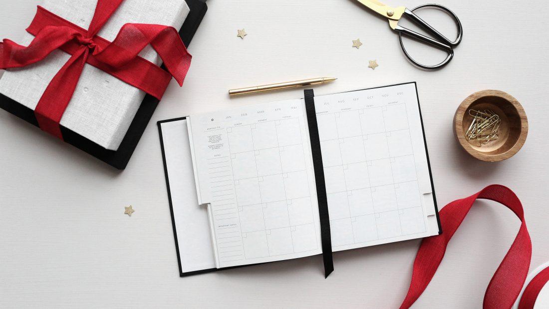 Schreibtisch, Kalender, Geschenk
